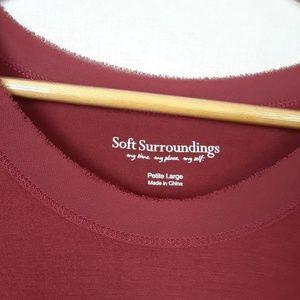 Soft Surroundings Dresses - Soft Surroundings asymmetrical hem dress size LP